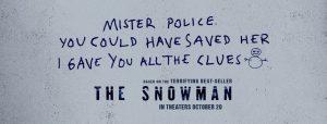 Cartel de cine The Snowman