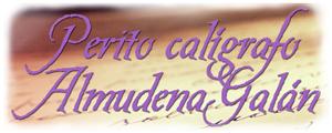 Perito calígrafo judicial – Almudena Galán